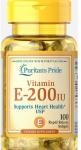 Puritan's Pride Natural E-200 IU (100 капсул)
