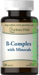 Puritans Pride B-Complex with Minerals 120 таб