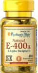 PURITAN'S PRIDE витамин E-400 I.U. (100 КАПС)